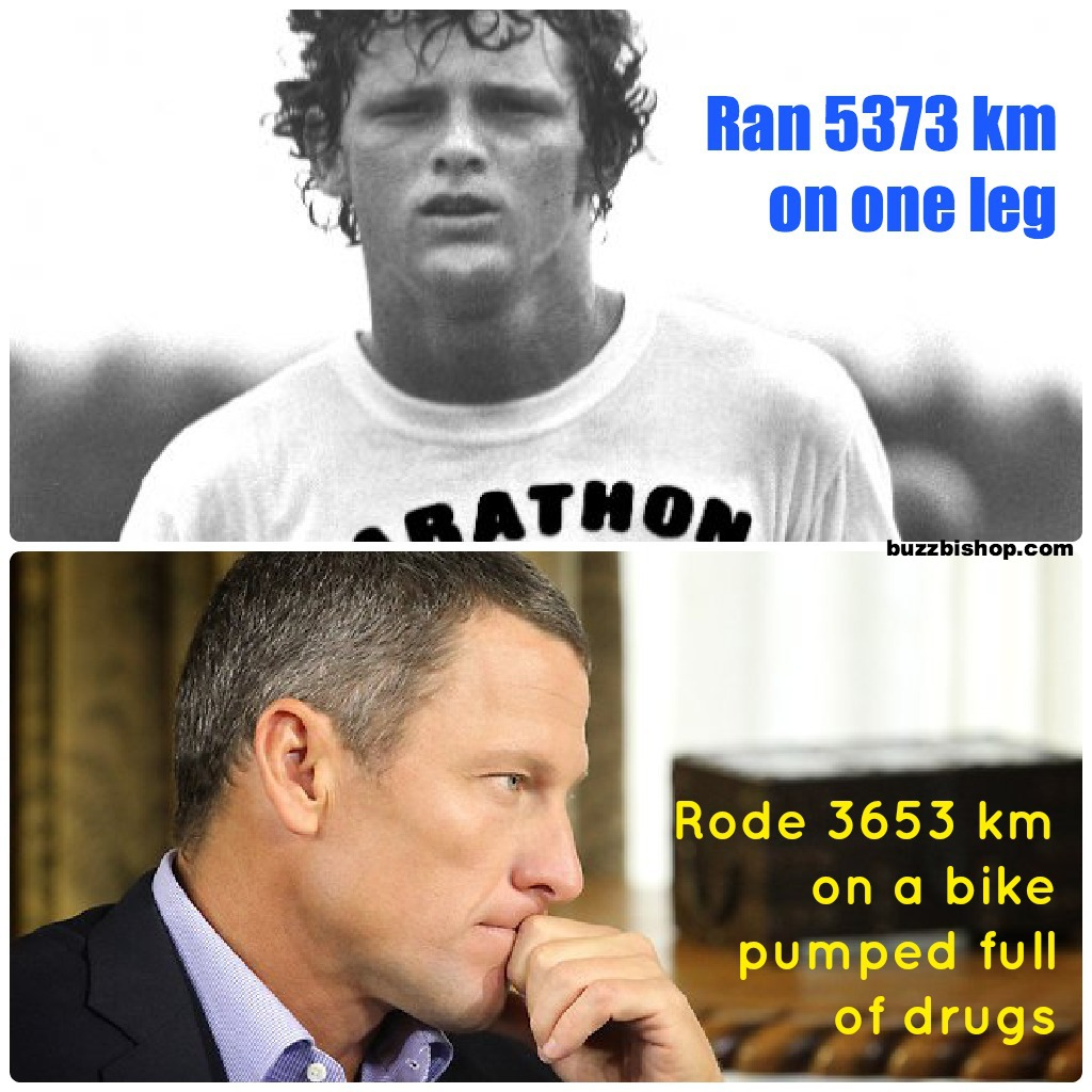 terry fox vs lance armstrong