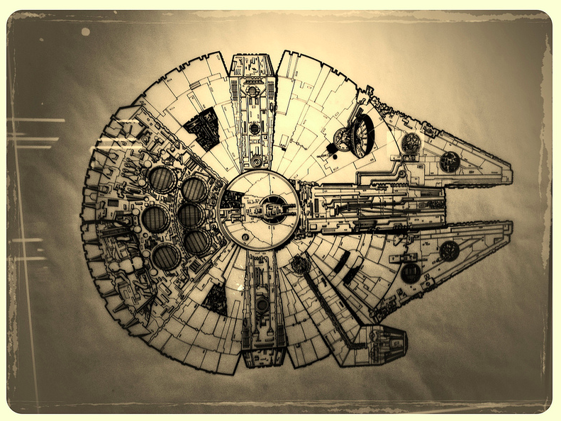 millennium falcon print star wars identities