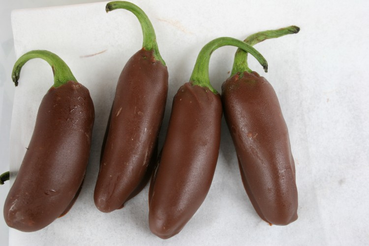 chocolate dipped jalapeno