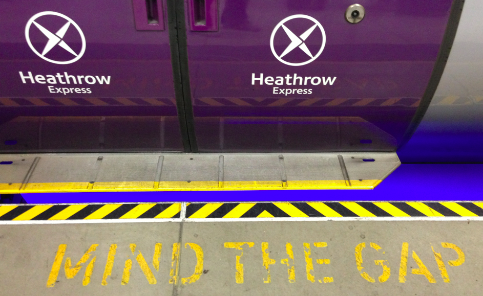 mind the gap heathrow express