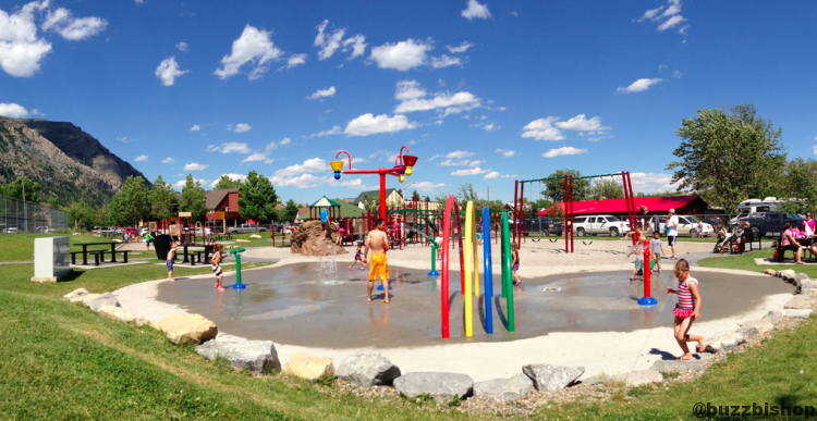 splash pad at waterton