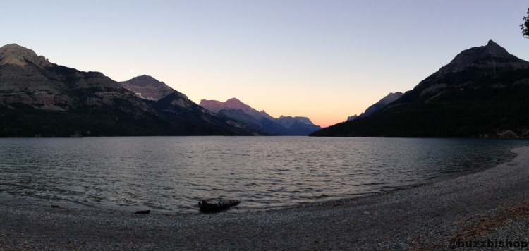 Twilight on Upper Waterton Lake