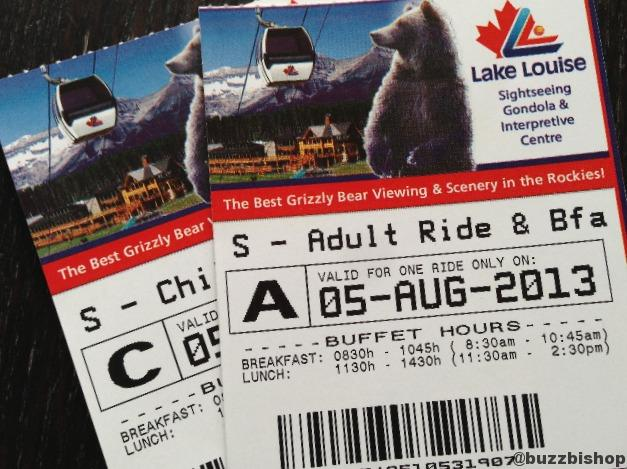 lake louise gondola tickets
