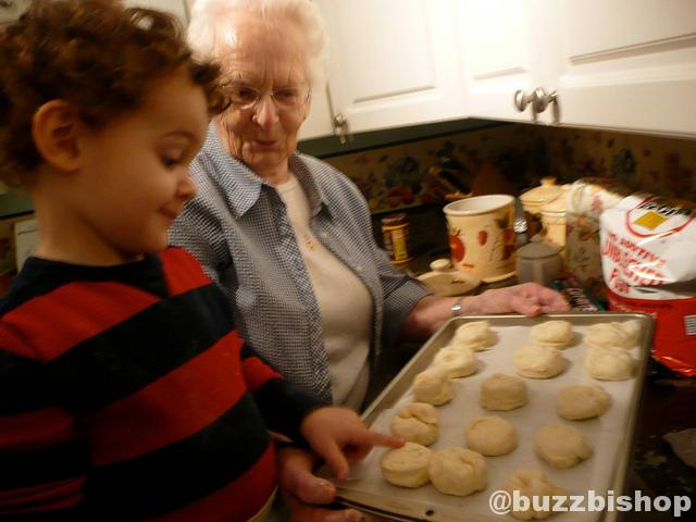 Zachariie and Nan Bake Scones