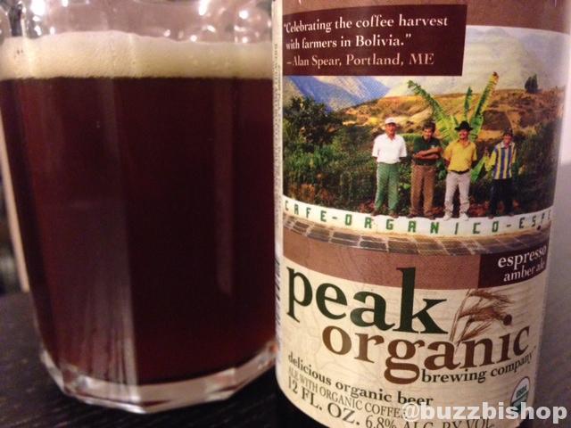 Peak Organic Brewing Co. esperesso amber ale