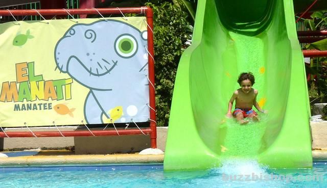 A waterslide at Aquaventuras
