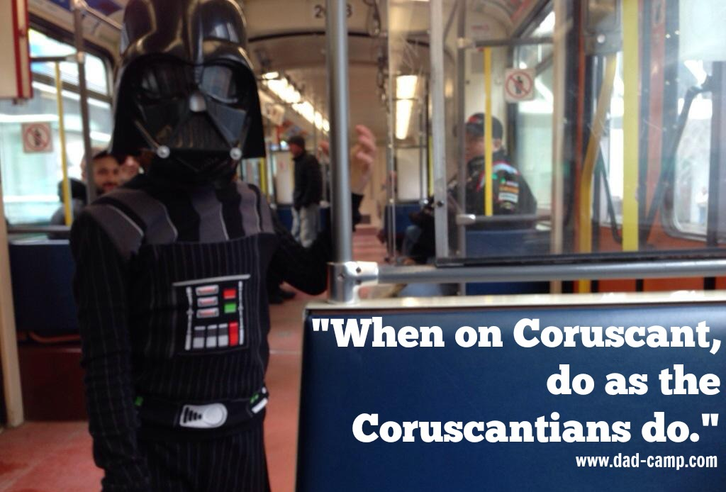 When on Coruscant ..