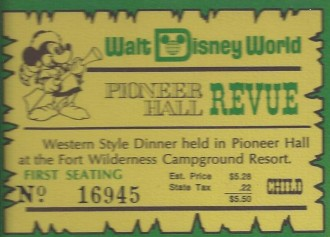 disney ticket 1975