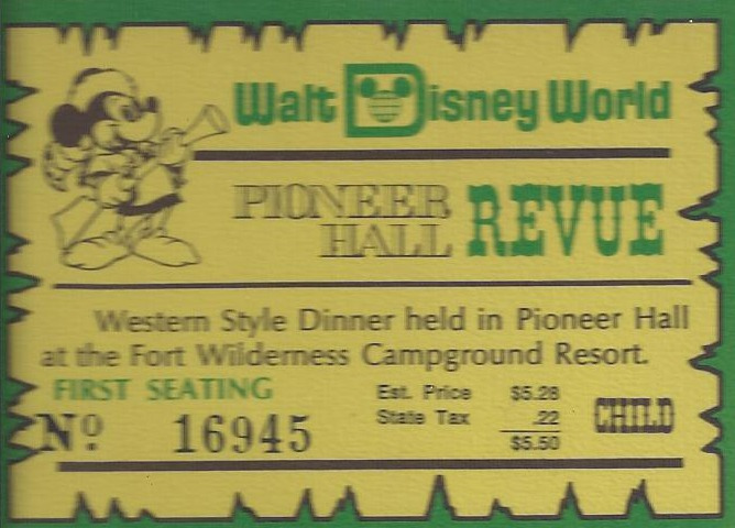 disney ticket 1975