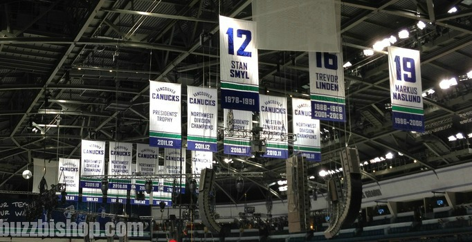 canucks banners rogers arena