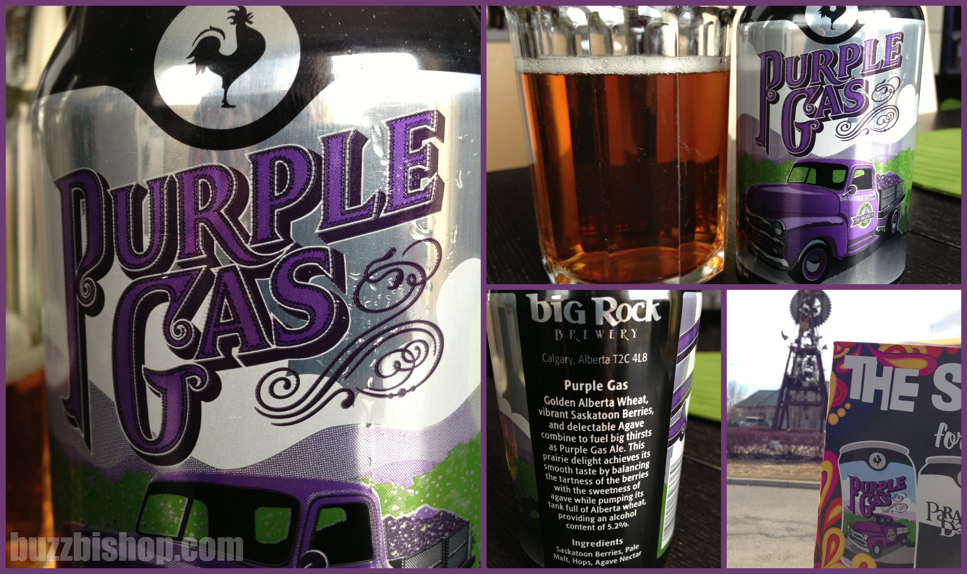 Purple Gas Beer from Big Rock Brewery