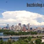 Calgary Supercell Mushroom Cloud