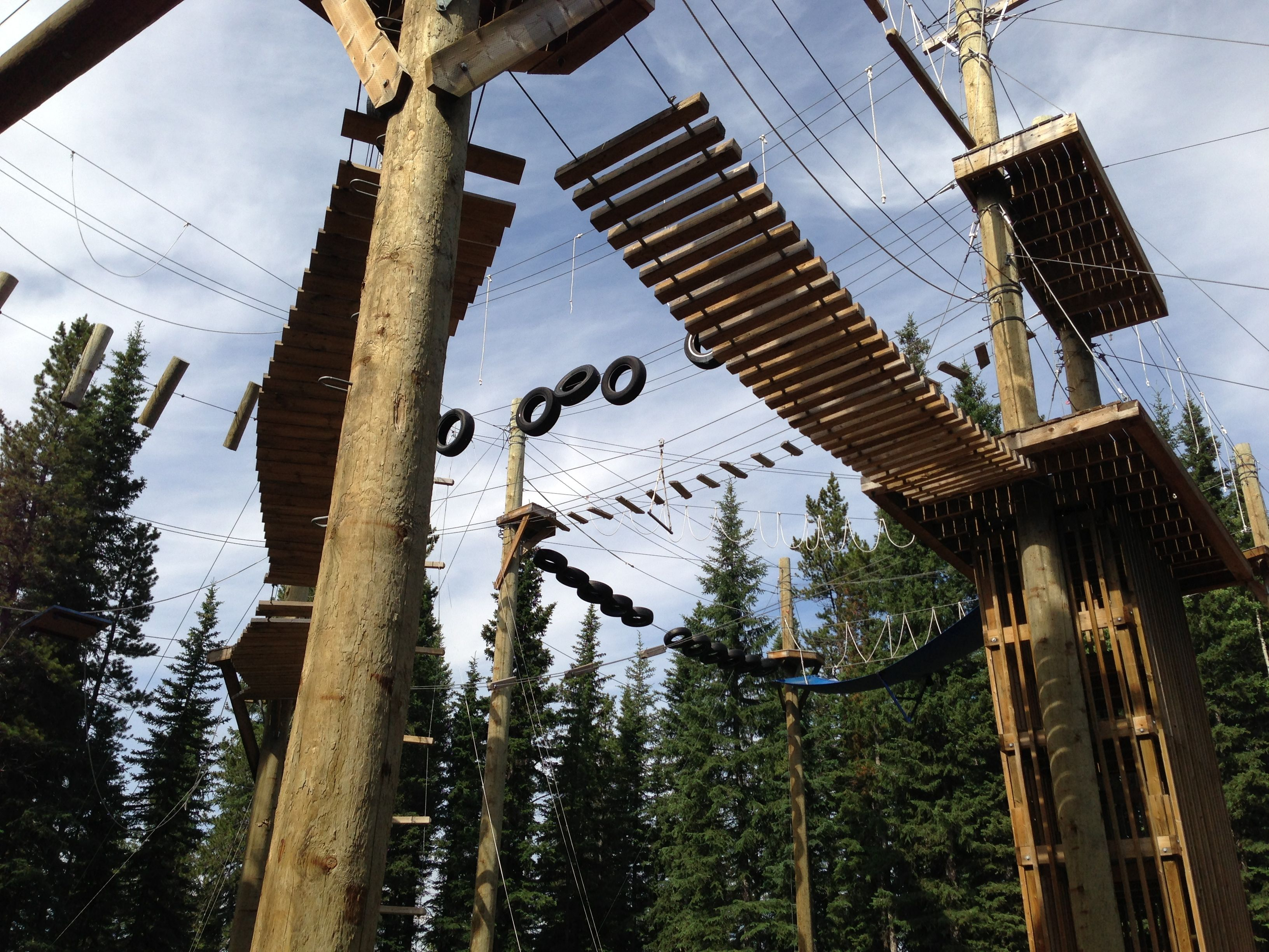 high ropes at camp jean nelson