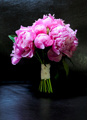 wedding peony bouquet