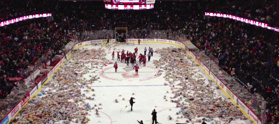 2013 Calgary Hitmen Teddy Bear Toss