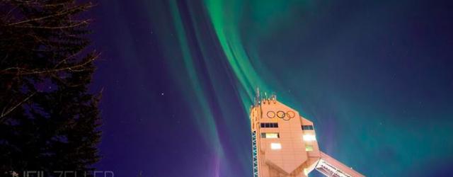 aurora over Calgary by Neil Zeller