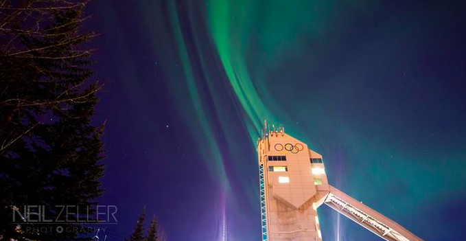 aurora over Calgary by Neil Zeller