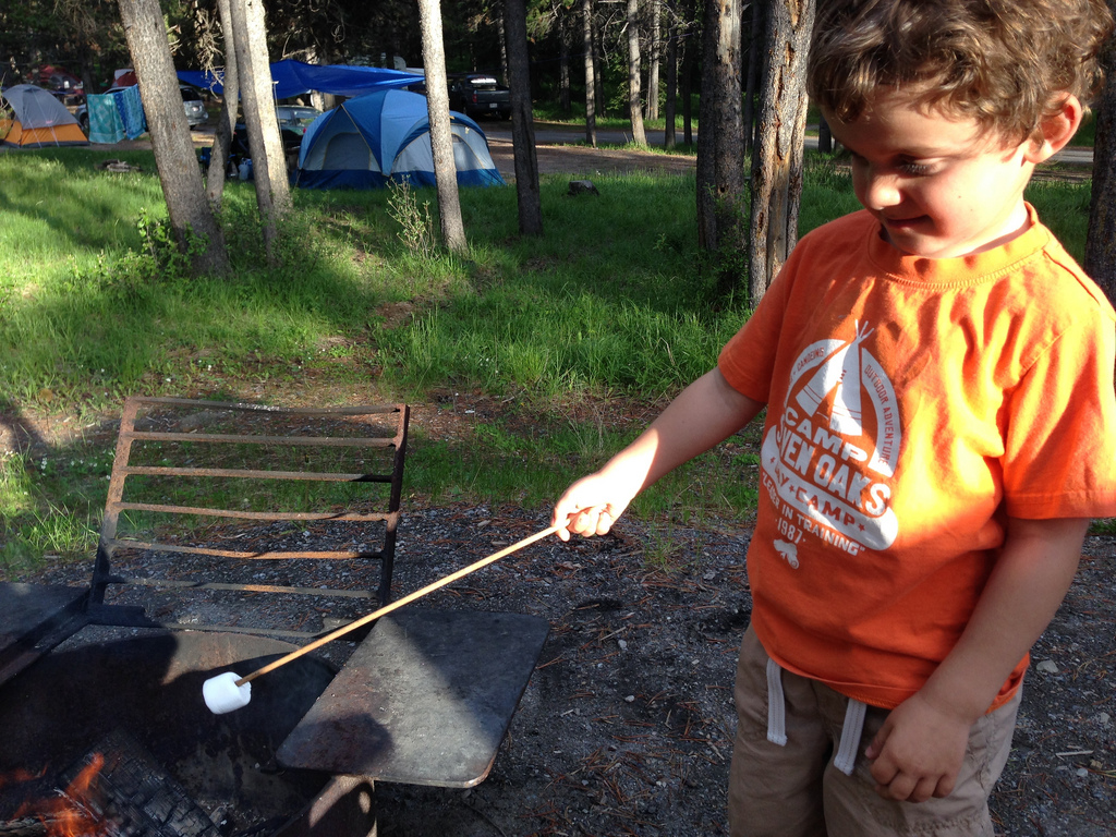 Marshmallows at Tunnel Mountain Campground