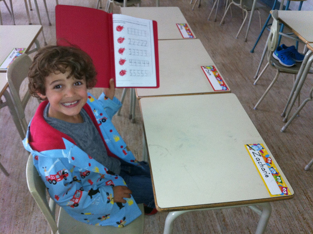 Zacharie at School