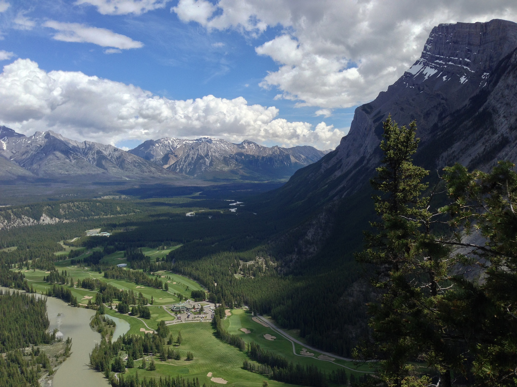 Banff Springs Golf Club from Tunnel Mountain