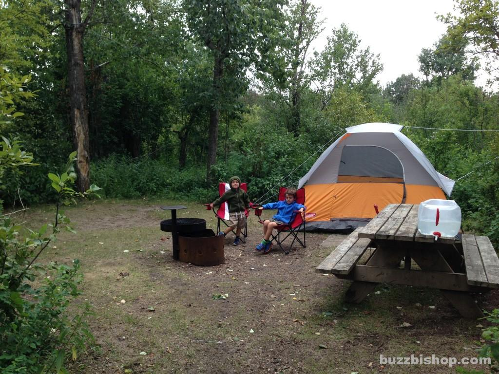 Campsite at Rochon Sands Provincial Park - Buzz Bishop