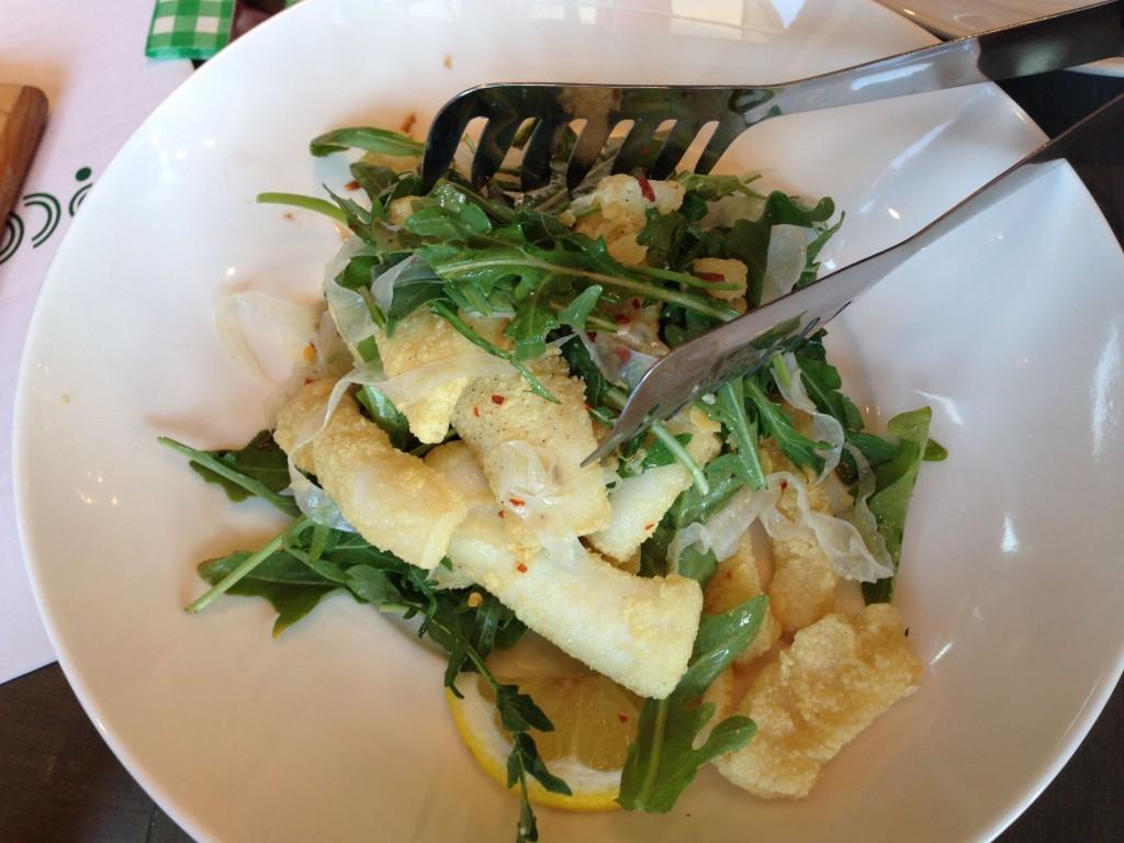 Calamari at Bocce Restaurant - Buzz Bishop