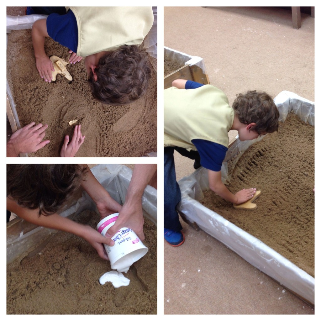 Making fossil footprints