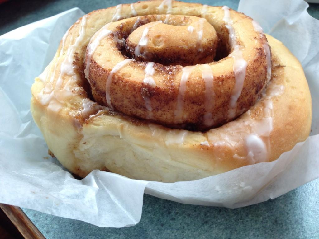Skookum Cinnamon Bun from Skookumchuck Bakery