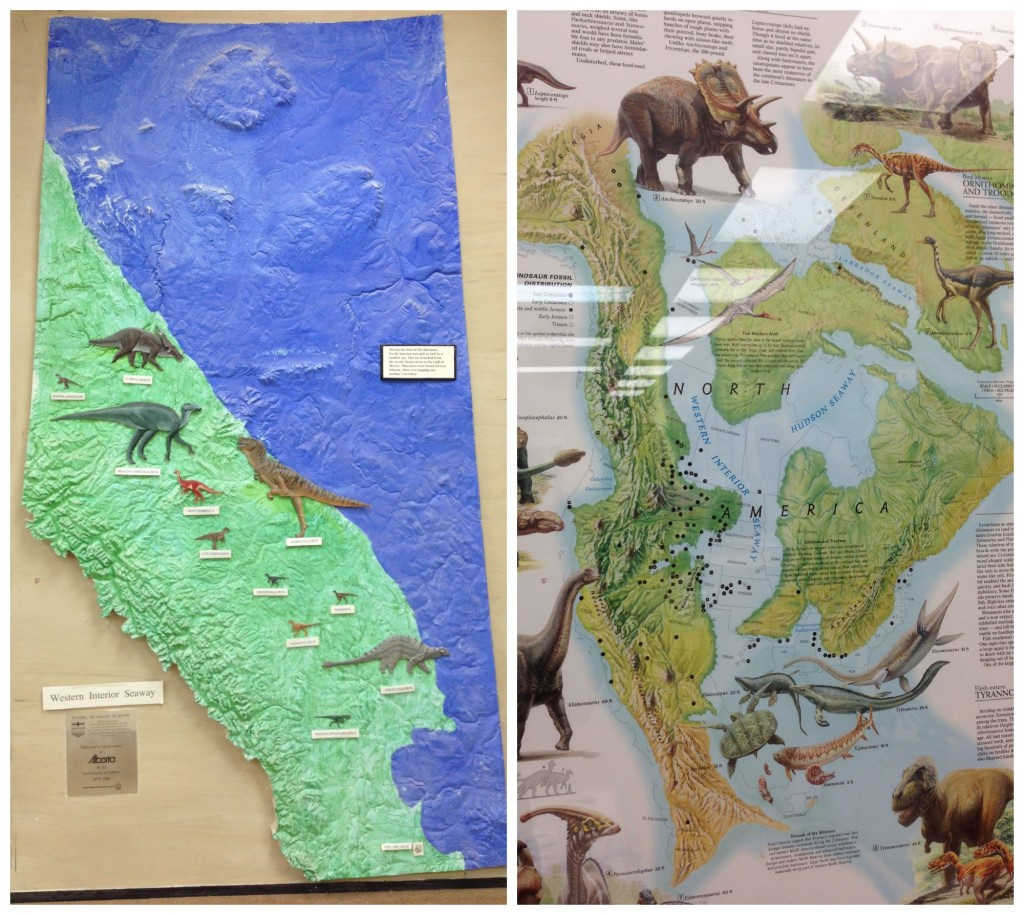 Map of North America With Dinosaur Finds