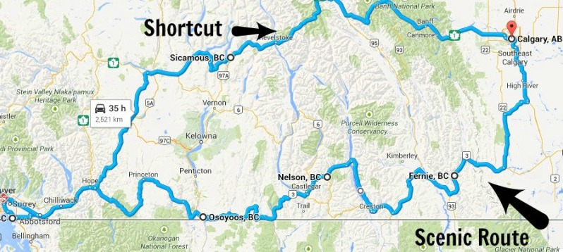 DRIVING THE CROWSNEST HIGHWAY: THE SCENIC ROUTE FROM CALGARY TO VANCOUVER