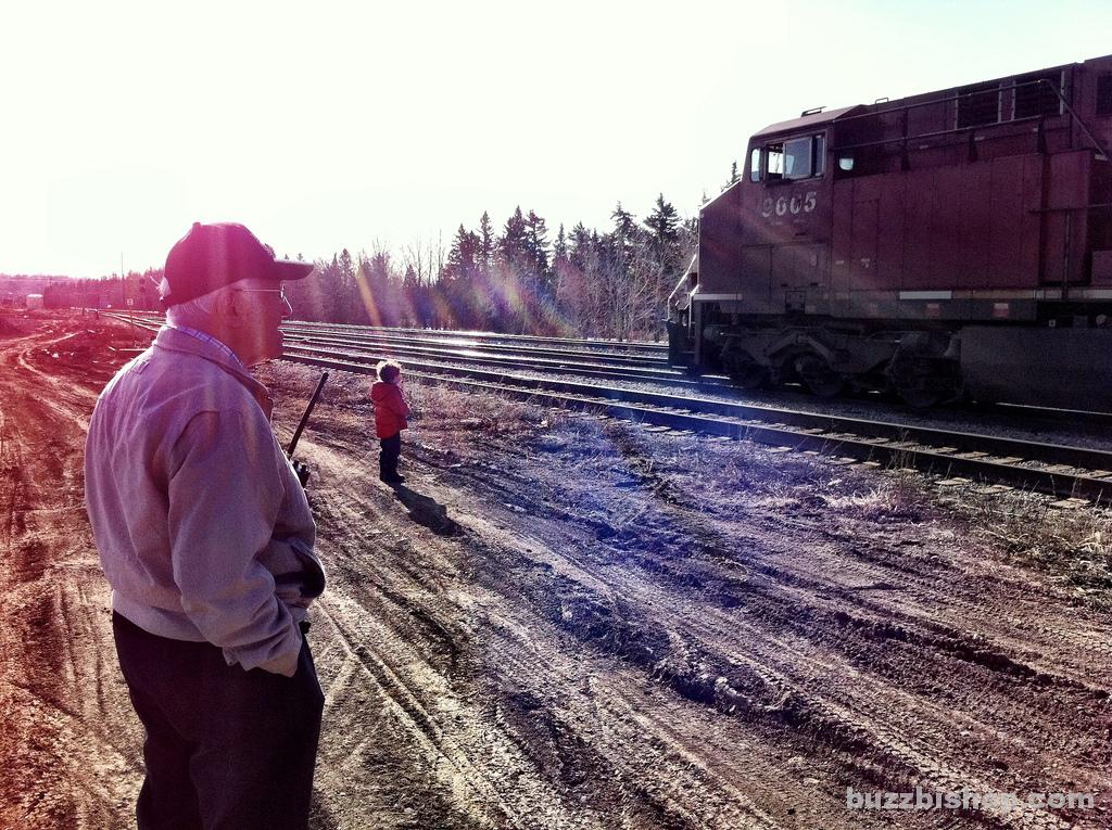 Watching trains in Calgary