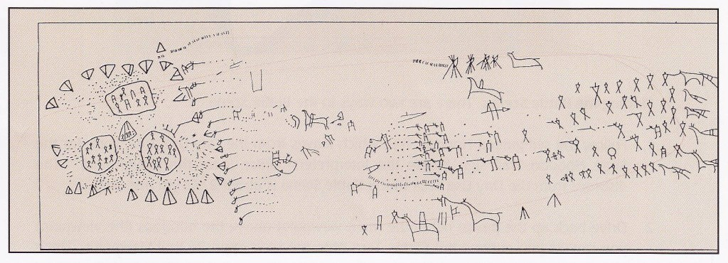 Writing-on-Stone Battle Scene