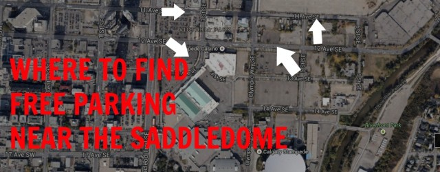 Free Parking Near The Saddledome