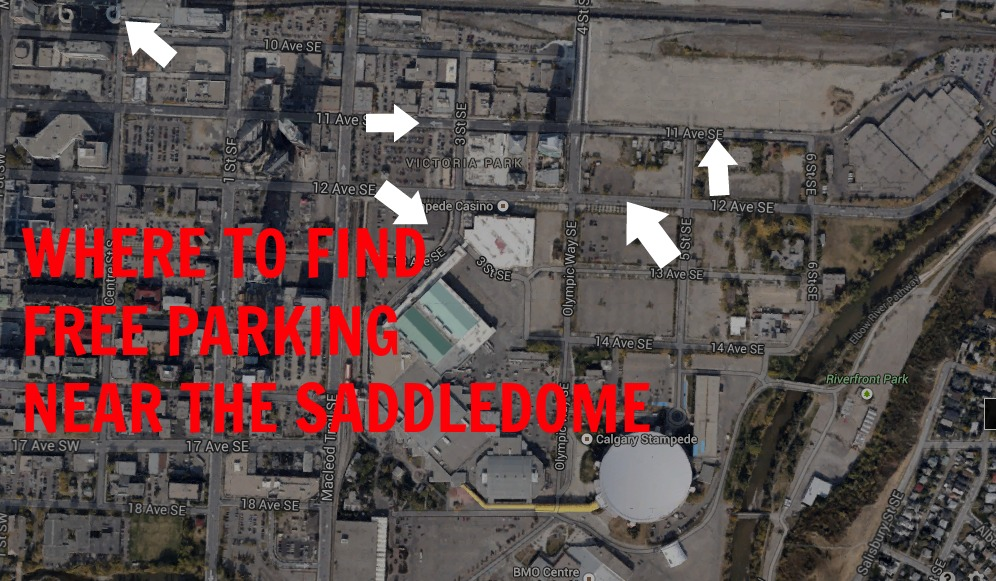 The 3 Best Places To Find Free Parking Near The Saddledome