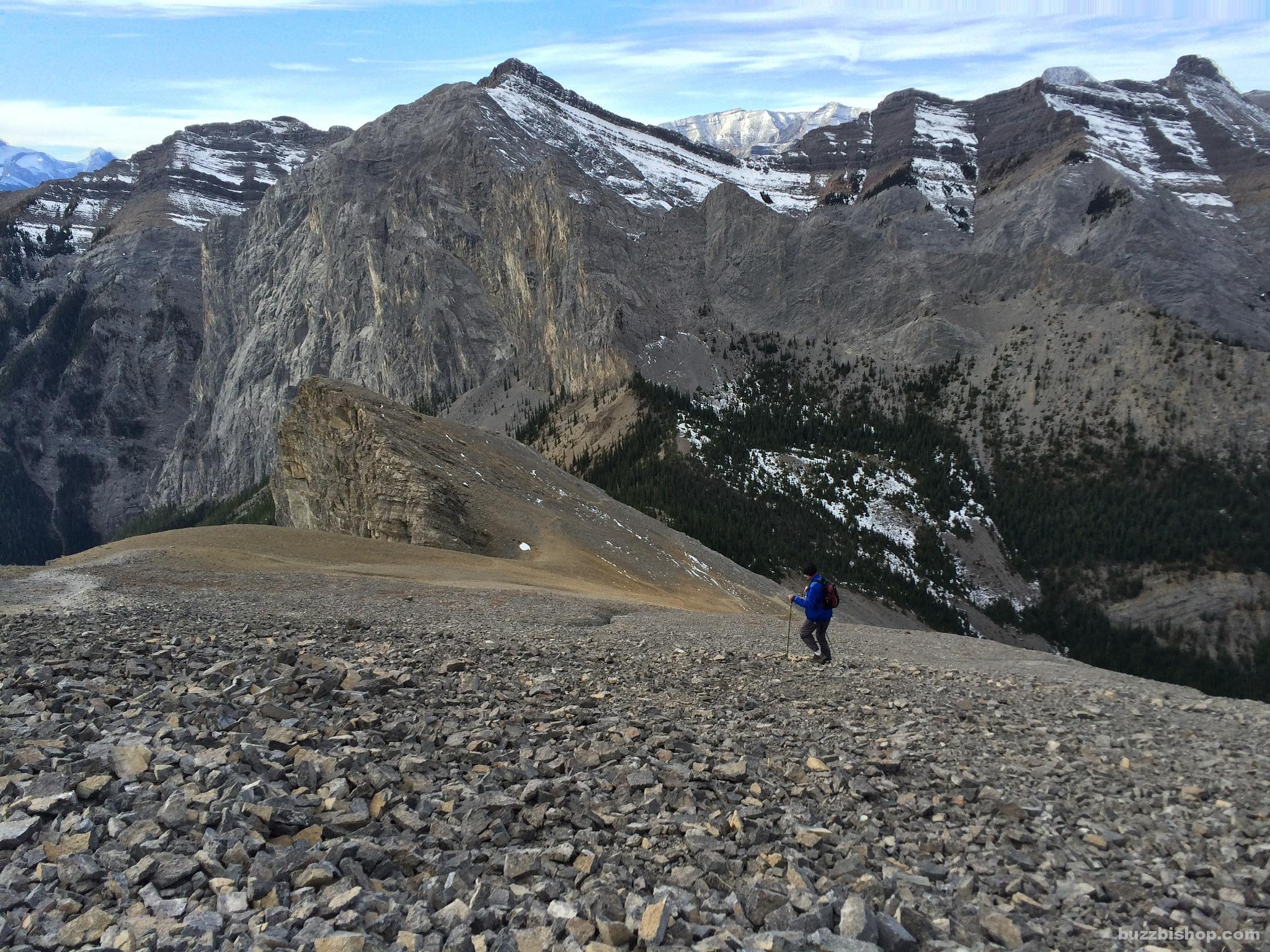 Scree Run on Yamnuska
