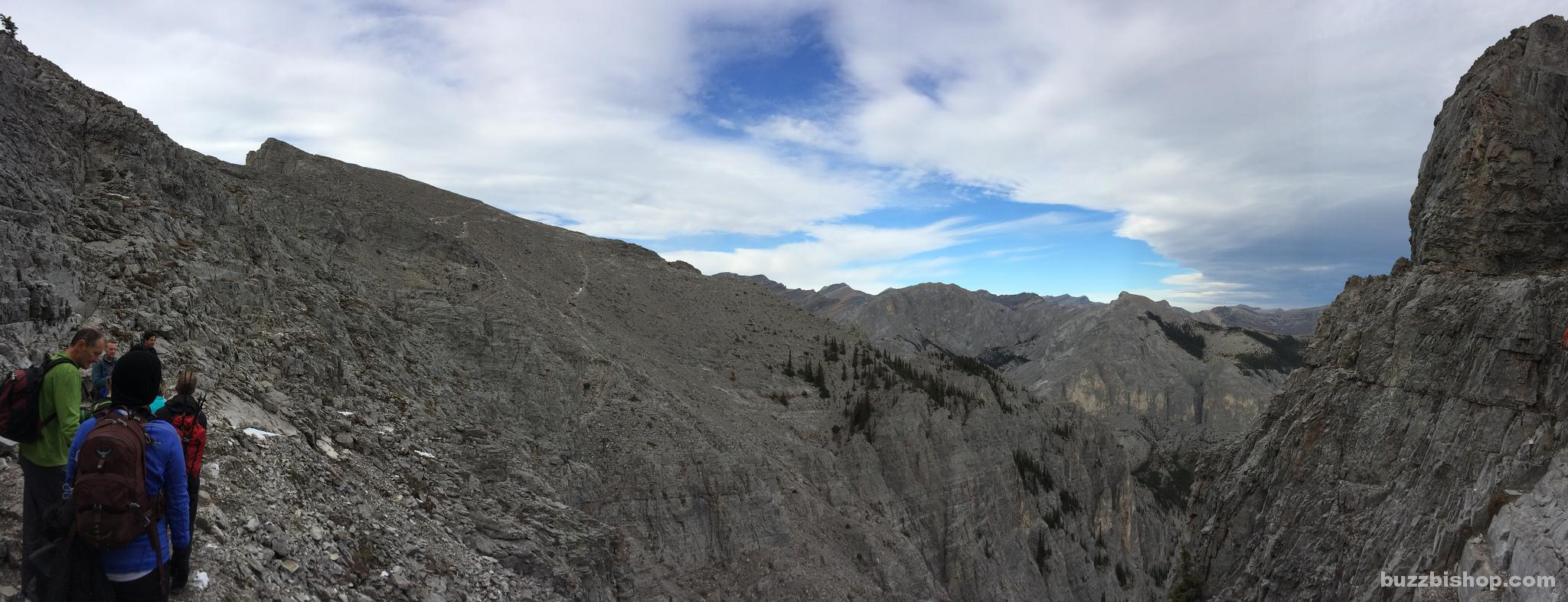 View at the Yamnuska Traverse