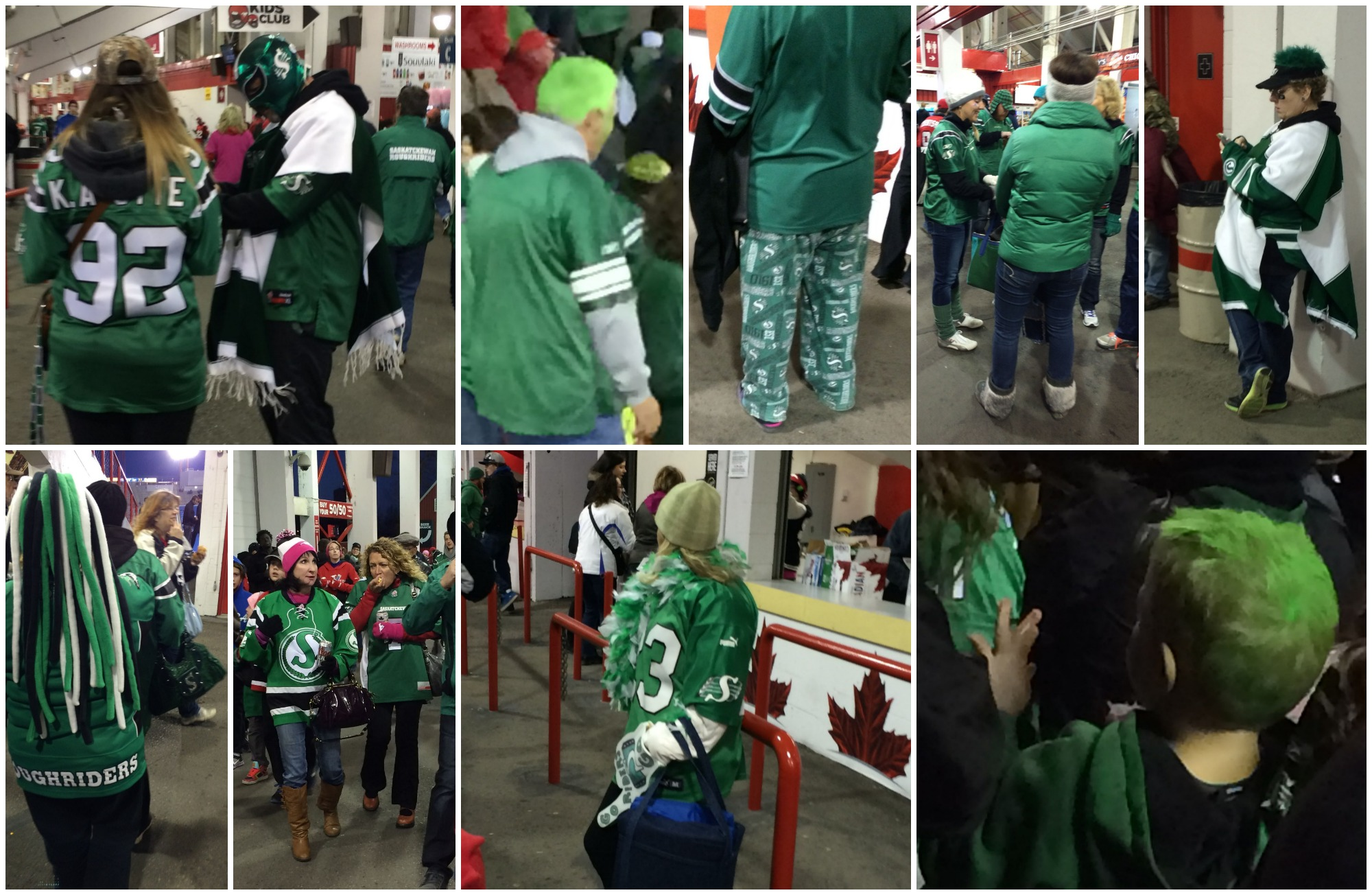 Rider Fans at a Stamps Game