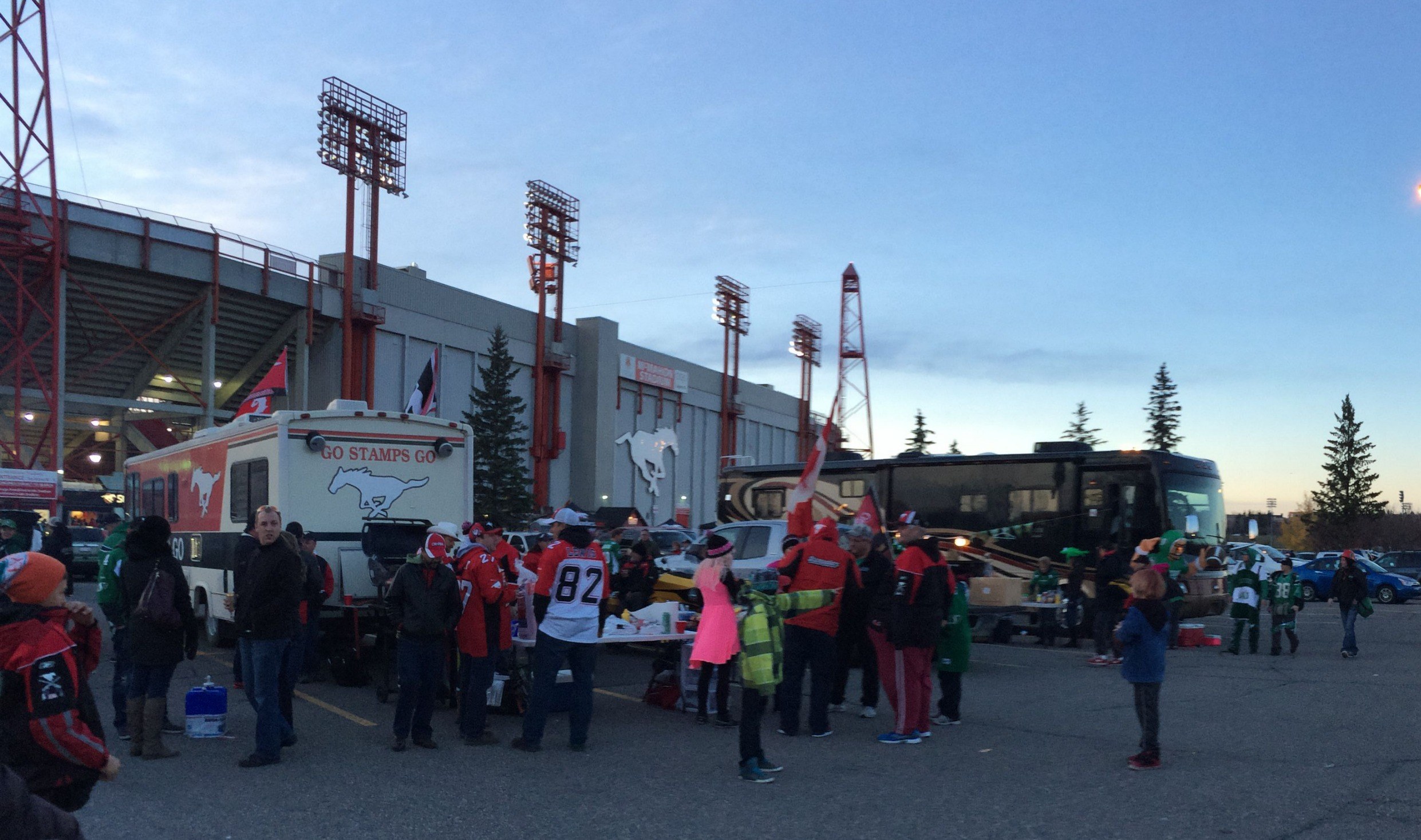 Tailgaters at the Stampeders Game