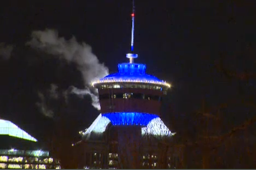 Seen In Calgary #37: Everything Is Blue For World Diabetes Day