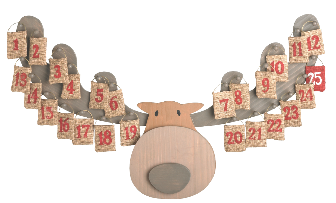 Wooden Moose Advent Calendar