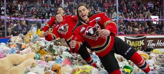 2014 Calgary Hitmen Teddy Bear Toss
