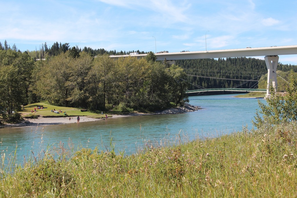 Bowness Park and Bow River in Calgary