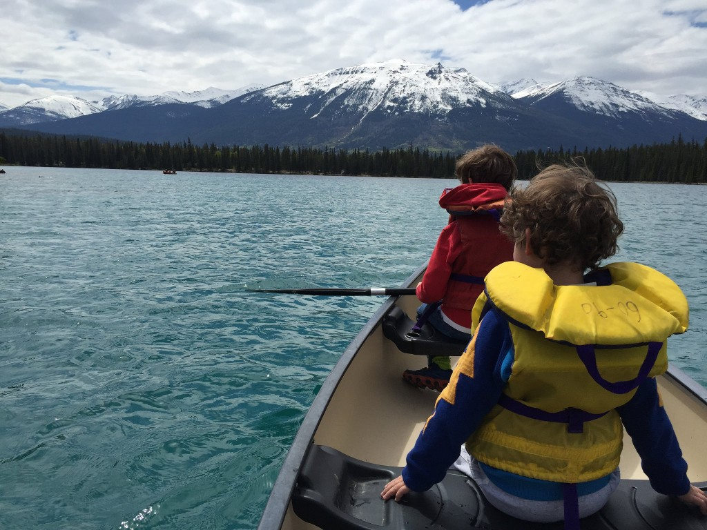 Canoeing at Lac Beauvert