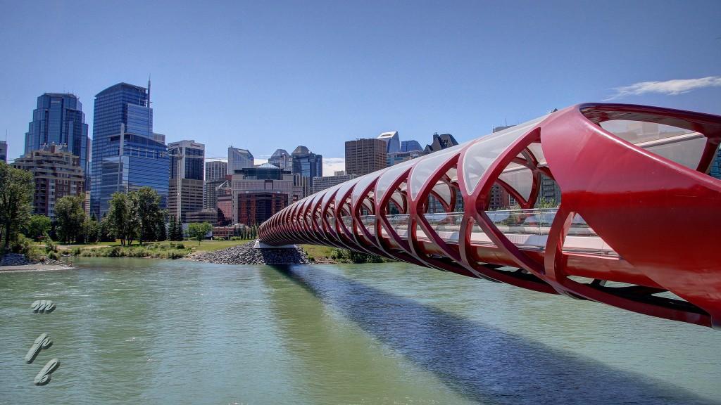 Peace Bridge Calgary Canada Day