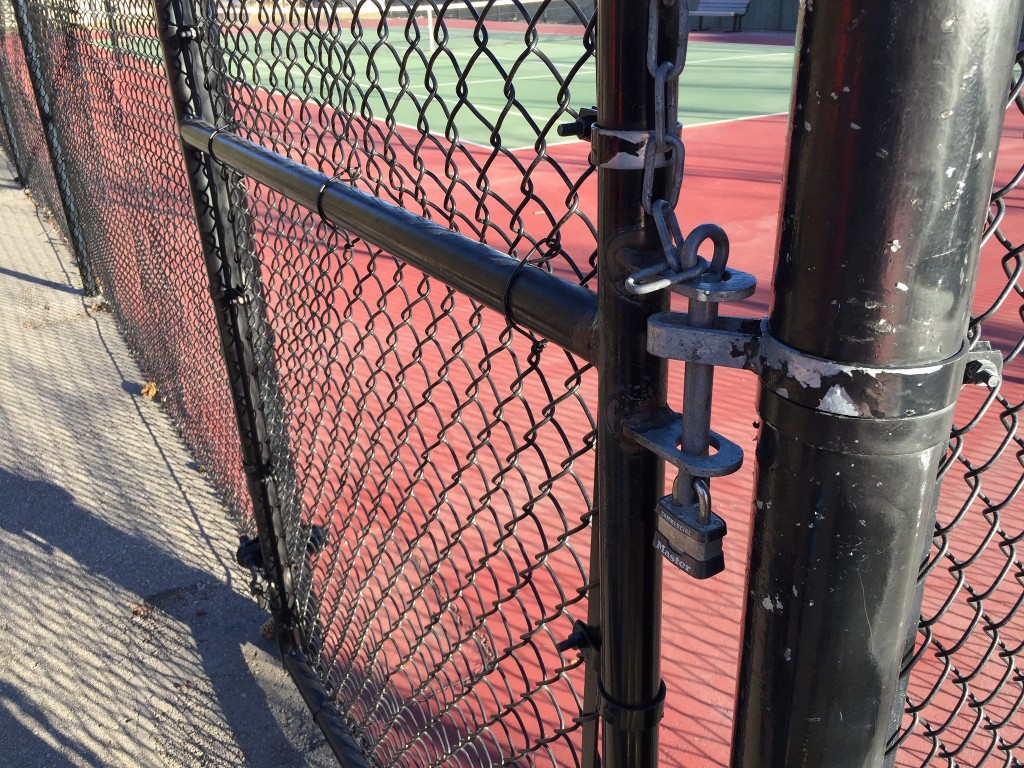 locked tennis court