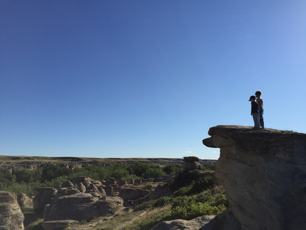 Looking over Writing-On-Stone Provincial park - TBAB