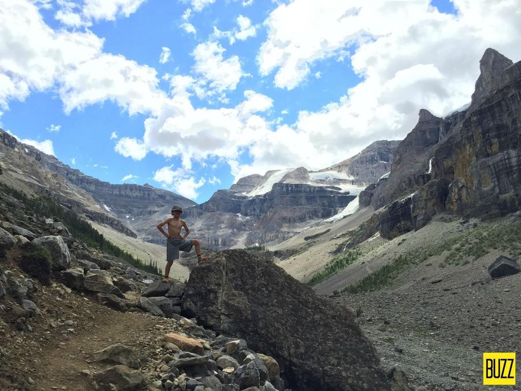 Zacharie at Stanley Glacier - Buzz Bishop