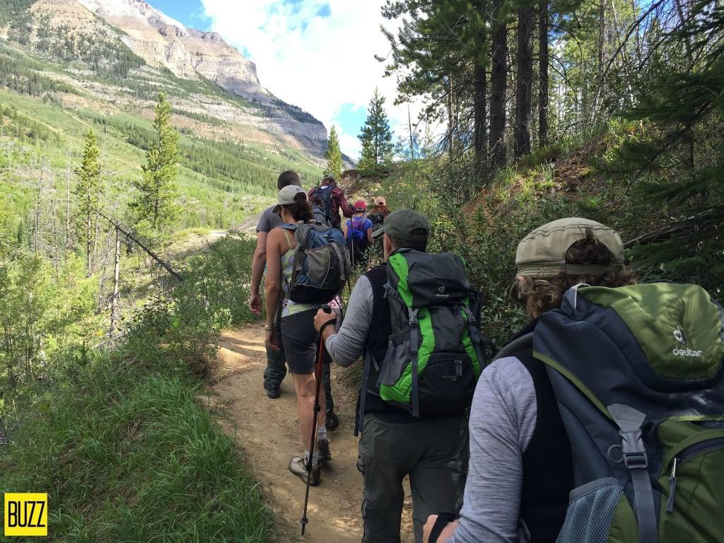 busy trail at Stanley Glacier - Buzz Bishop