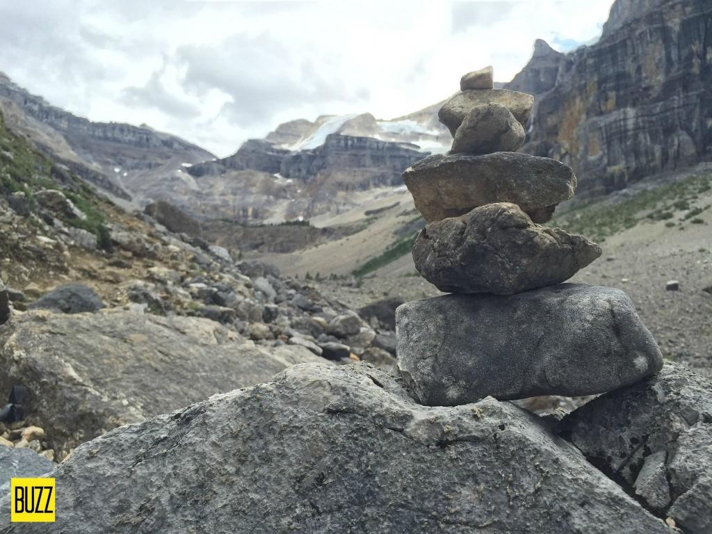 Cairn at Stanley Glacier - Buzz Bishop
