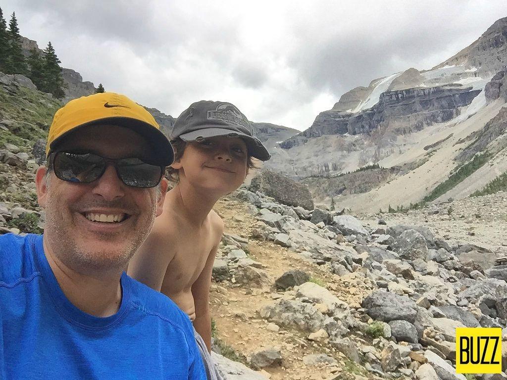Stanley Glacier With Zacharie - Buzz Bishop